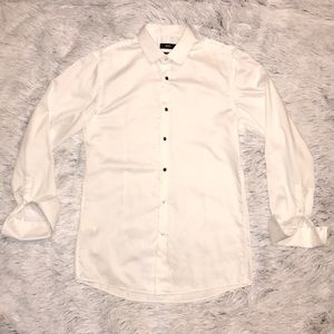 Hugo Boss Slim Jasper Tux Shirt White 15.5 32/33